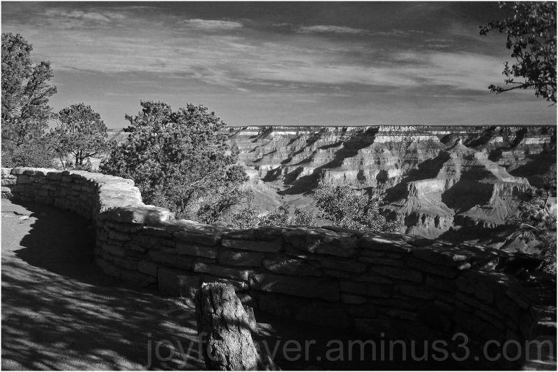 grand-canyon colorado arizona mountain edge B&W