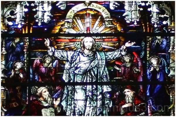 stained-glass-window painting christ church NYC