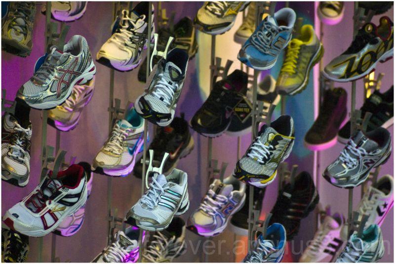 sneaker footwear shoes store display new-york-city