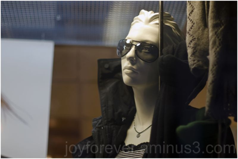 tired mannequin statue girl woman clothes shop