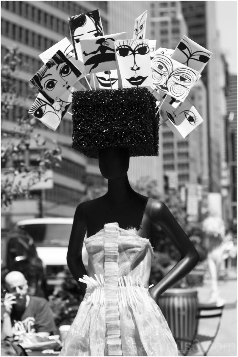sidewalk-catwalk fashion mannequin new-york-city