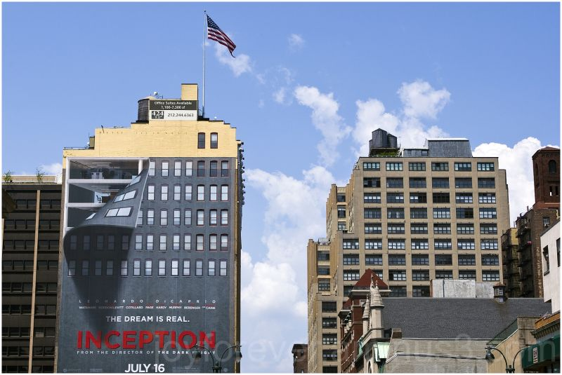 Inception movie advertisement poster New-York-City
