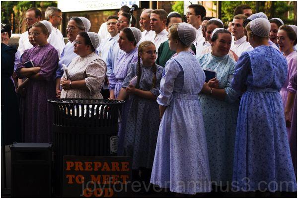 choir women gossip Cambridge USA street