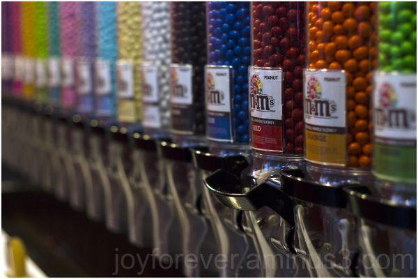 m&m-world candy wall shallow-dof new-york