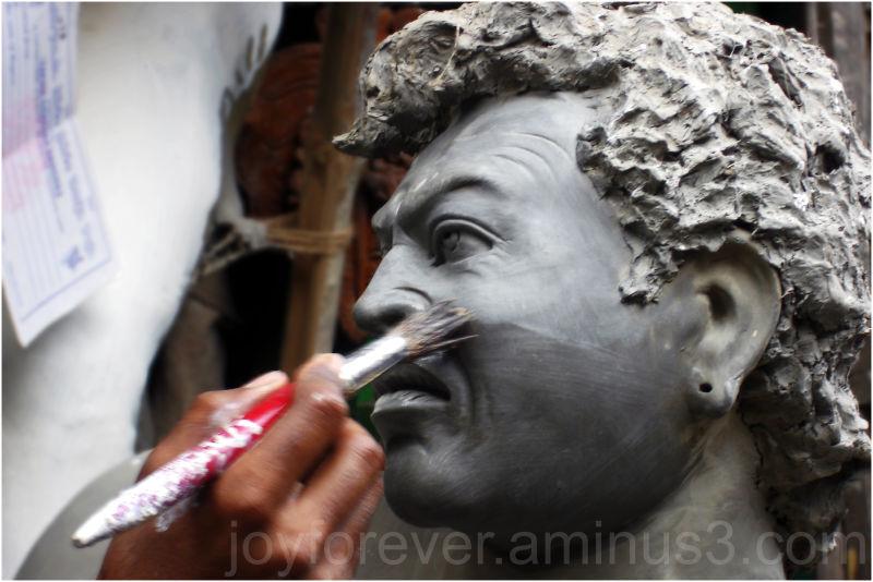Kumortuli sculpture Durga-Puja Festival Kolkata