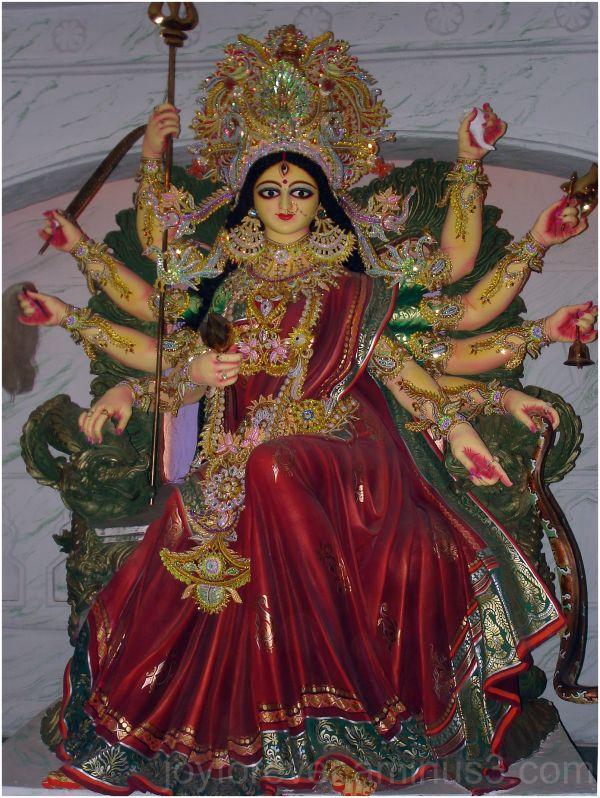 Durga-puja goddess idol festival kolkata india