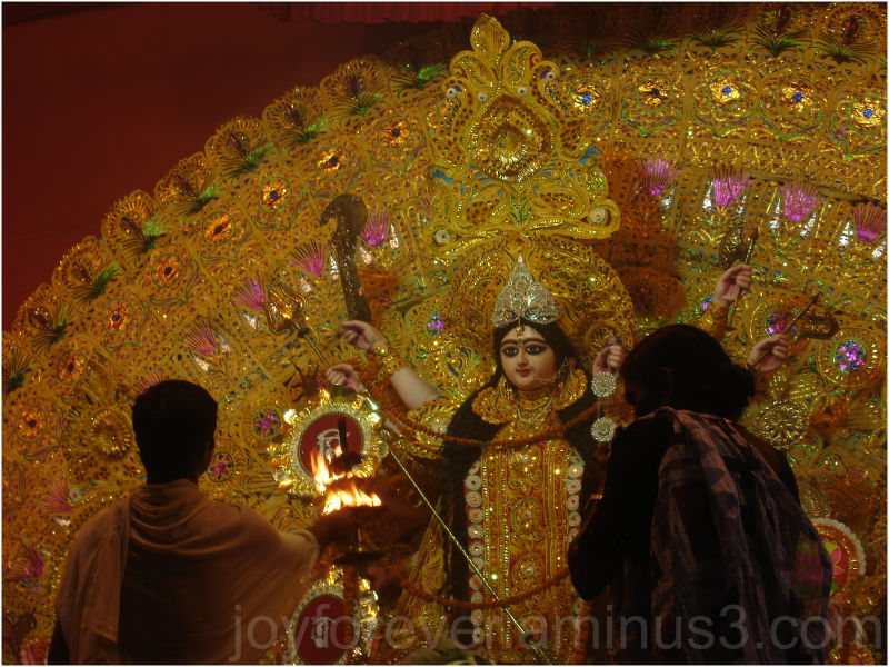 Durga-puja goddess idol festival Hooghly India
