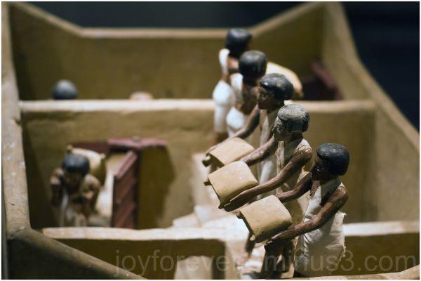 Egypt art model granary doll Met-art
