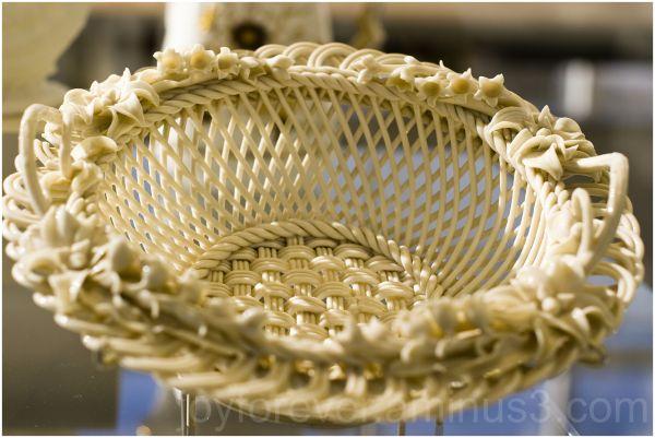 porcelain basket art sculpture Met-art museum NYC