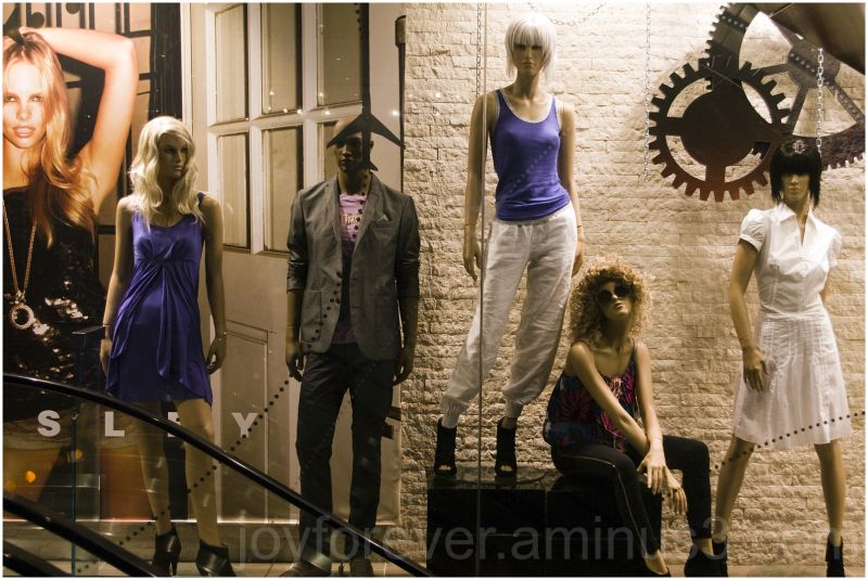 clothes apparel store mannequin display mall