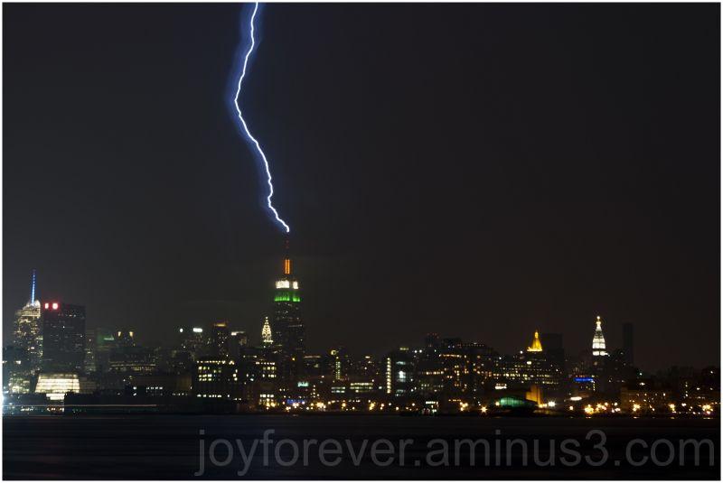lightning thunder new-york empire-state-building