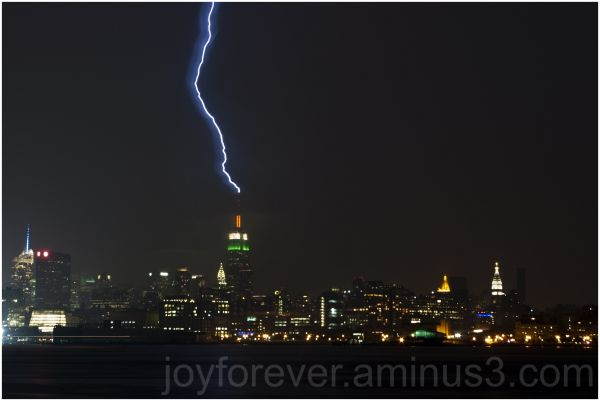 lightning thunder new-york empire-state-building