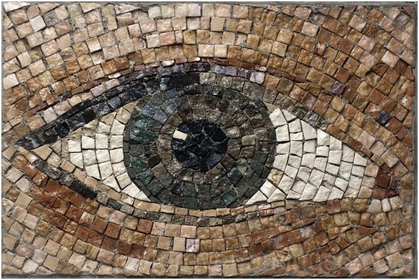 eye mosaic subway station metro New-York-City art