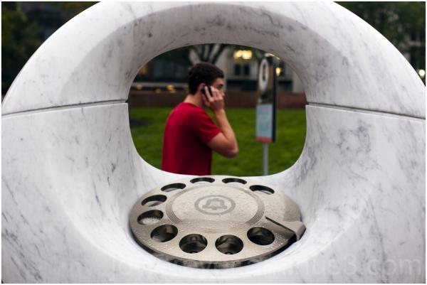 telephone sculpture sculptura Daniel-Henderson NJ