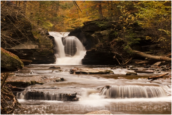 waterfall Ricketts-Glen PA fall foliage PA water