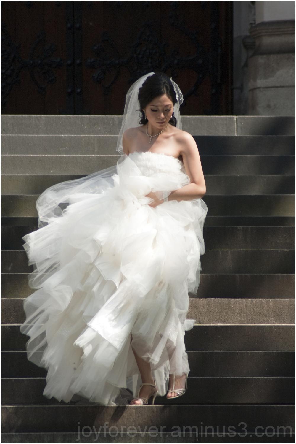 bride woman candid wedding street portrait church