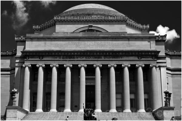 Low-Memorial columbia-university library pillar