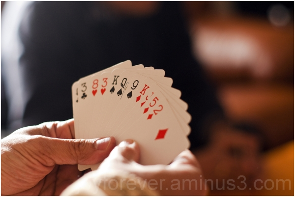 cards playing hand bridge deck red black game play