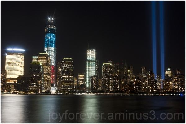 9/11 light ground-zero WTC tribute hudson downtown