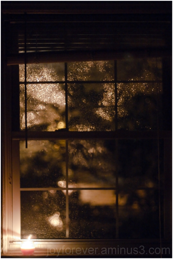 hurricane Sandy storm window candle night pane NJ