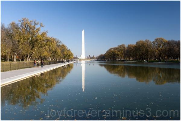 Washington Monument pool reflection water DC