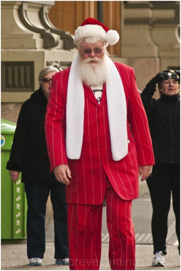 Santa Claus old man beard red white christmas