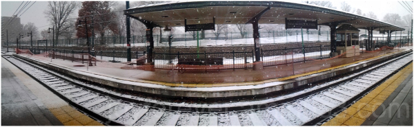 cellphone android panorama snow station newark