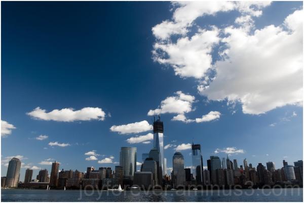 exchange-place manhattan new-york-city sky clouds