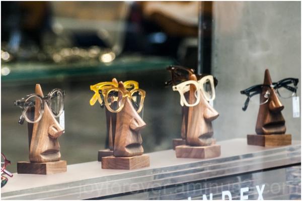 glasses spectacles store window Manhattan