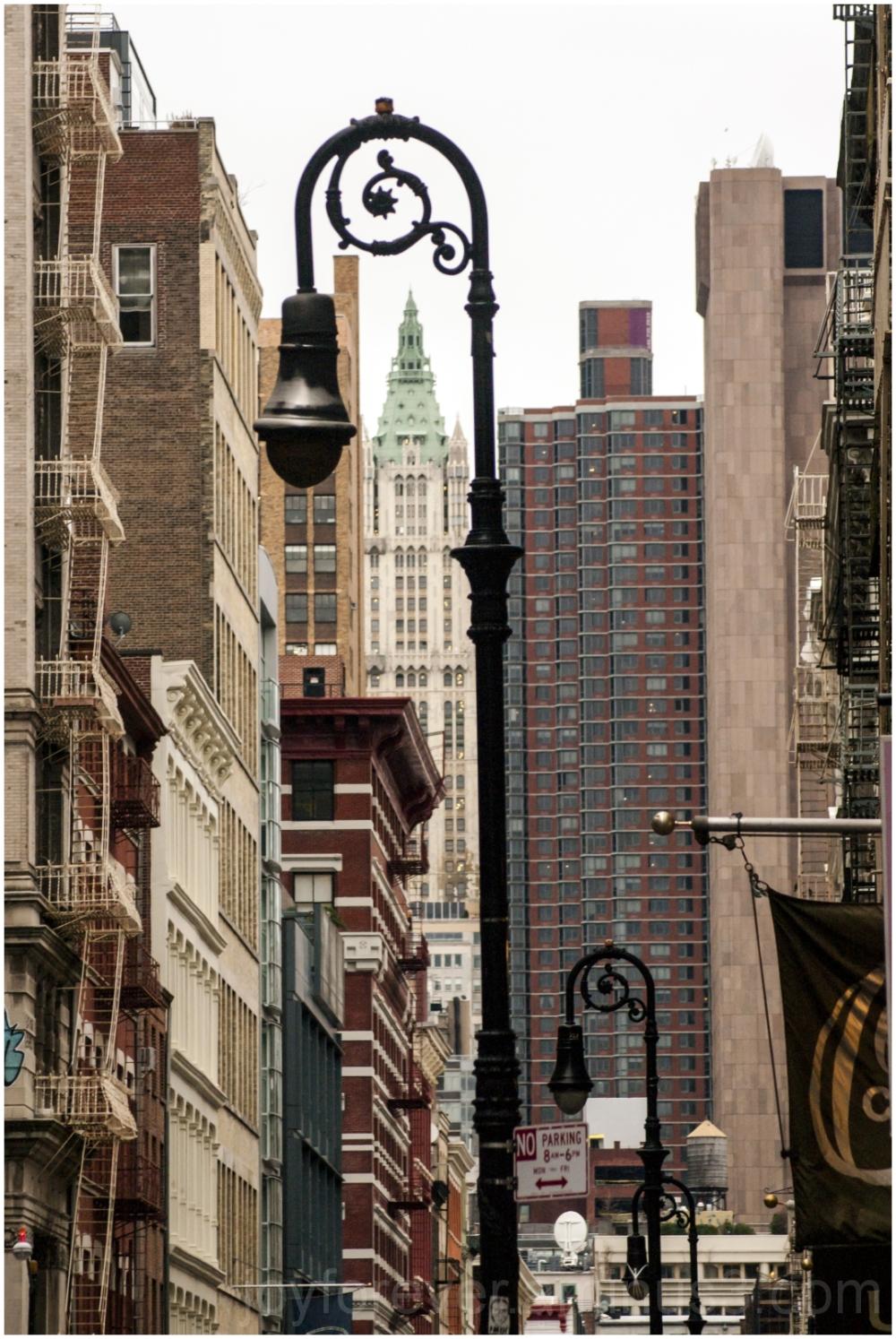 vertical lamp skyscraper manhattan building NYC