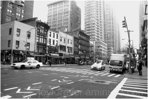 snow Manhattan snowstorm blizzard black&white NYC