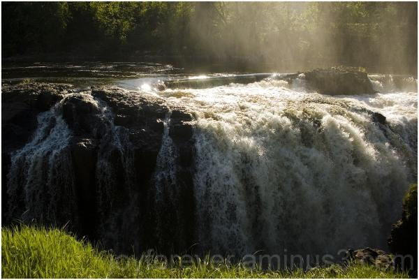 waterfall water Passaic river Paterson Great-falls