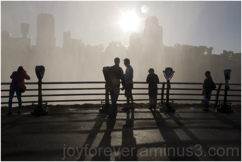 people silhouette water mist waterfall Niagara