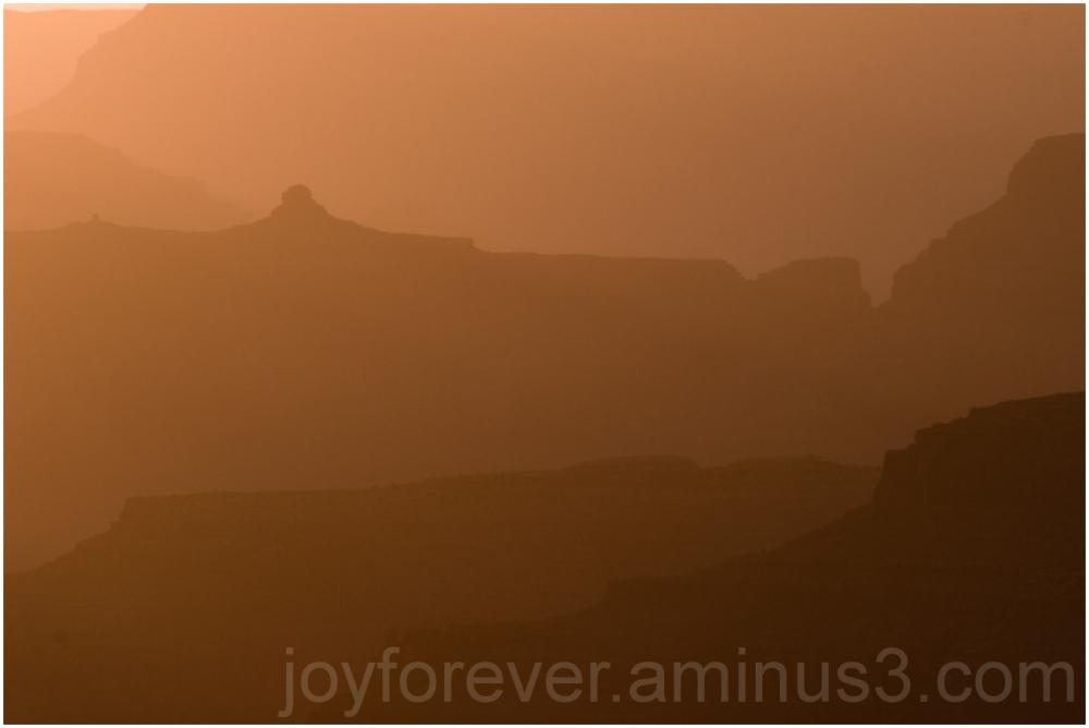 Grand-Canyon Yaki-Point sunset hills Arizona