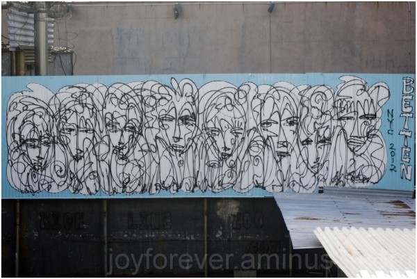 graffiti Manhattan wall painting building NYC