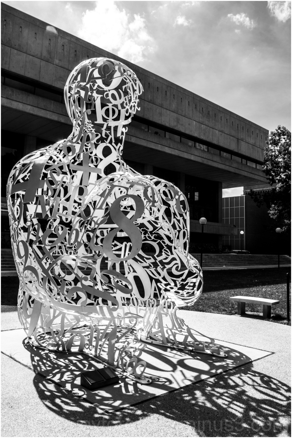 MIT Cambridge Alchemist sculpture numbers art