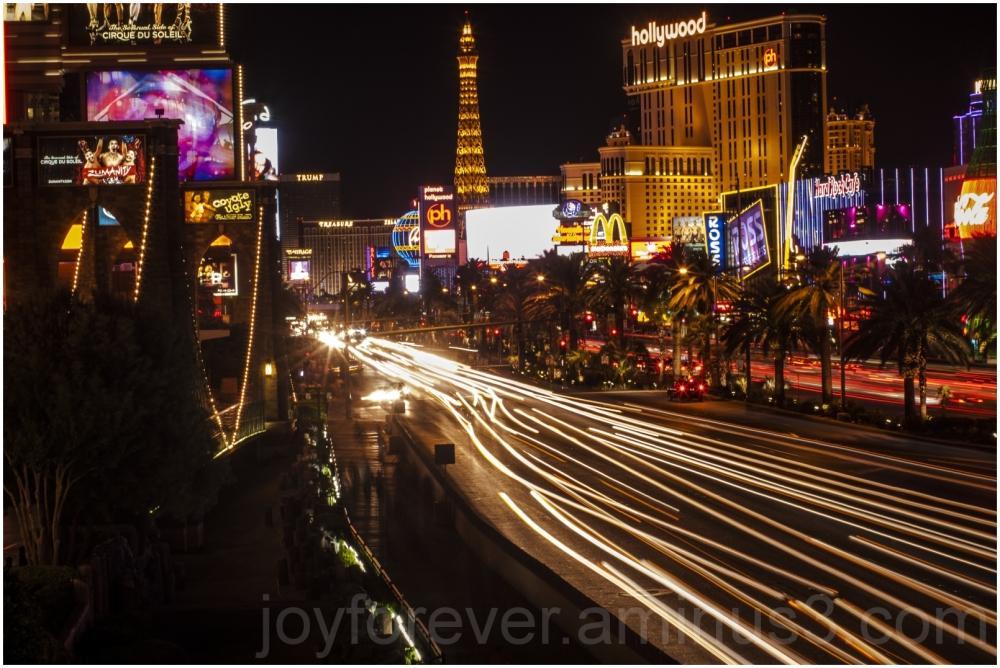 Las-Vegas Nevada Strip street night Hotel Casino