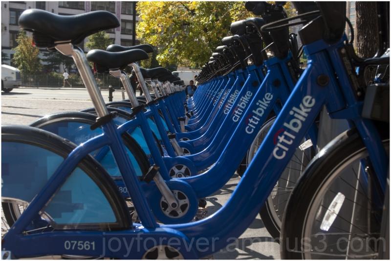 bicycle bike blue citibike NYC New-York Manhattan