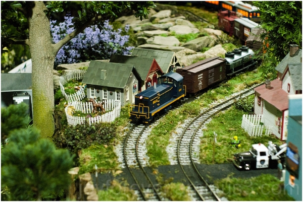 train toy model railway closeup miniature