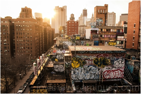 downtown Manhattan skyscraper New-York graffiti