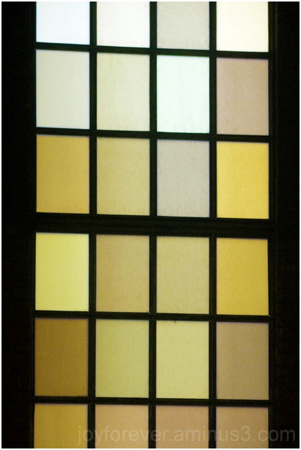window glass pane rectangle grid palette color NYC
