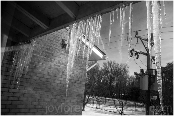 ice snow icicle winter cold water weather