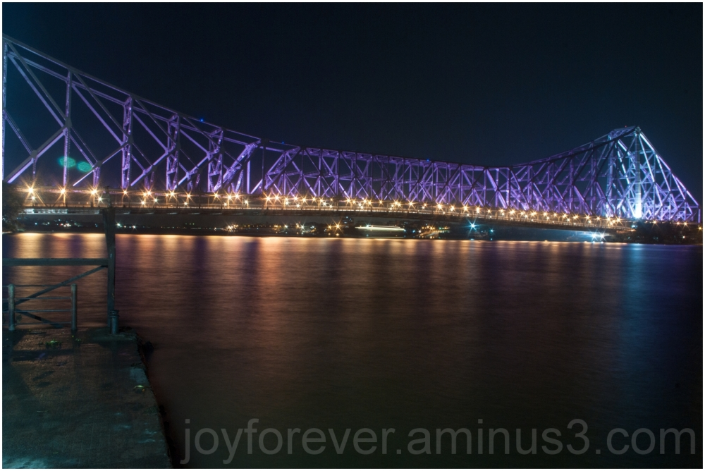 bridge river Ganga Howrah Kolkata Rabindra night