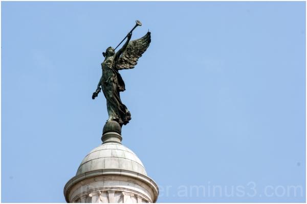 Victoria Memorial angel sculpture statue Kolkata