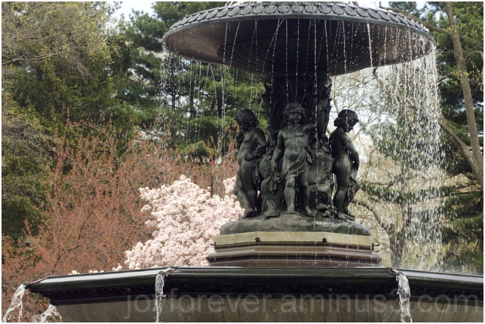 Bethesda fountain spring central-park NYC