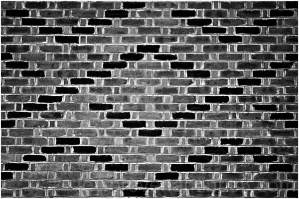 Wall pattern brick abstract Black&White