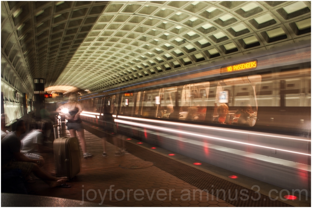 Washington DC metro rail train motion blur subway