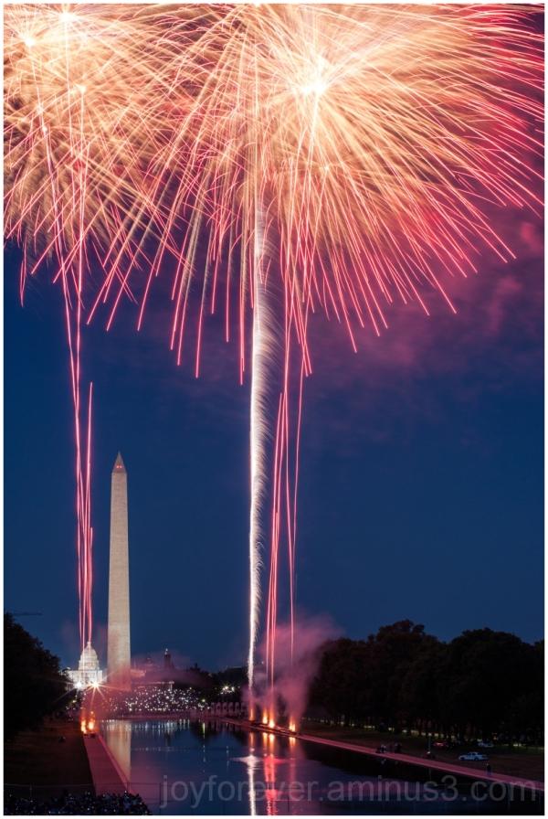Fireworks Capitol Washington Monument Lincoln 4th