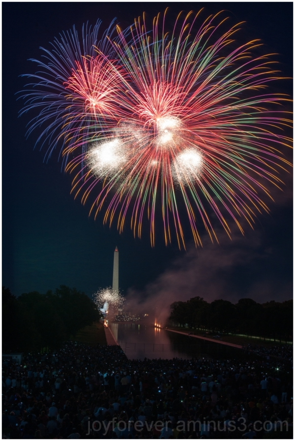 Fireworks Capitol Washington Monument Lincoln 4th