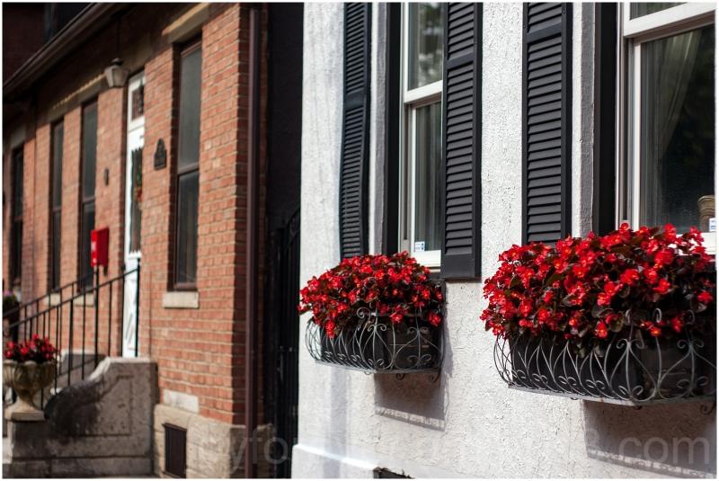 German village Columbus Ohio house flower window